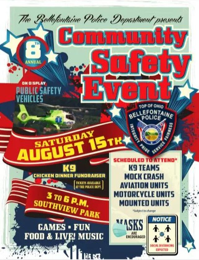 Bellefontaine Police Community Safety Event