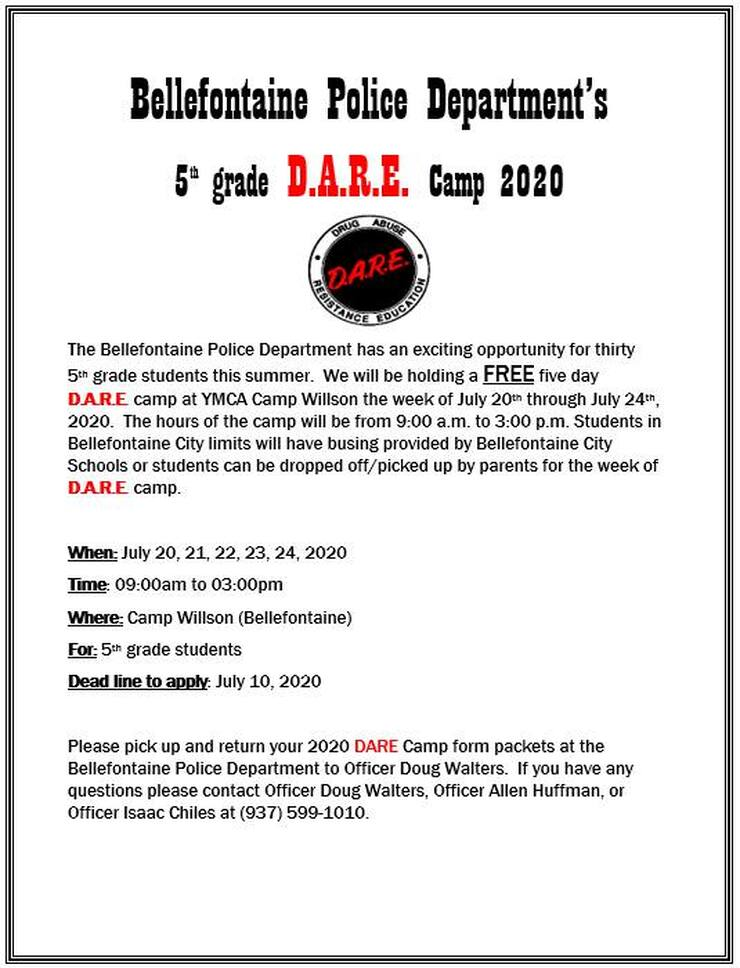 Bellefontaine DARE Camp